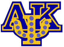 AKPsi pin avaiable with pearls or sapphires