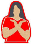 Chi Upsilon Sigma (CUS) Hand-sign lady