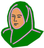 Lady wearing hijab