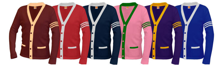 The GREEKSHOP: Greek-lettered Cardigan Sweaters