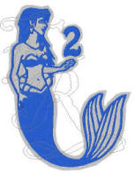 Standing Mermaid, available with letters, numbers, etc. at an additional cost