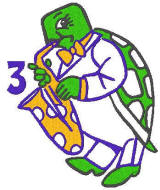 turtle playing sax