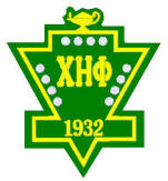 Chi Eta Phi crest outline, available w/ Greek letters, number, chapter/date, etc.