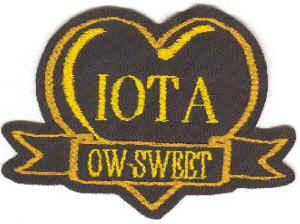 Iota heart w/ OW-SWEET banner, originally designed by University Apparel